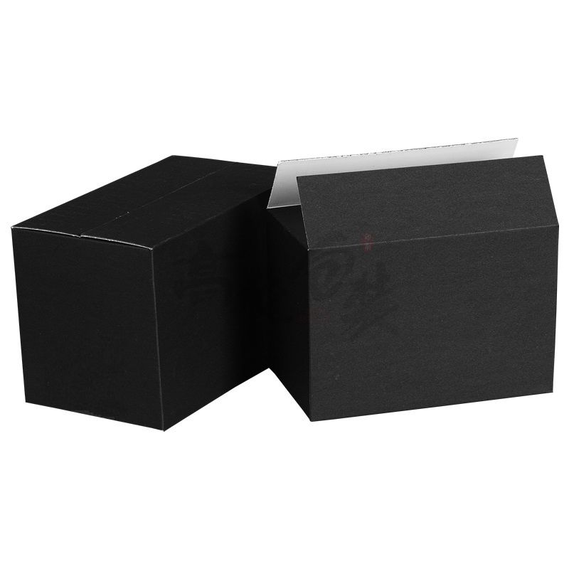 Wholesale Recycled Shipping Paper Box Black Corrugated Unique Carton Packaging Boxes Custom Logo Manufacturer