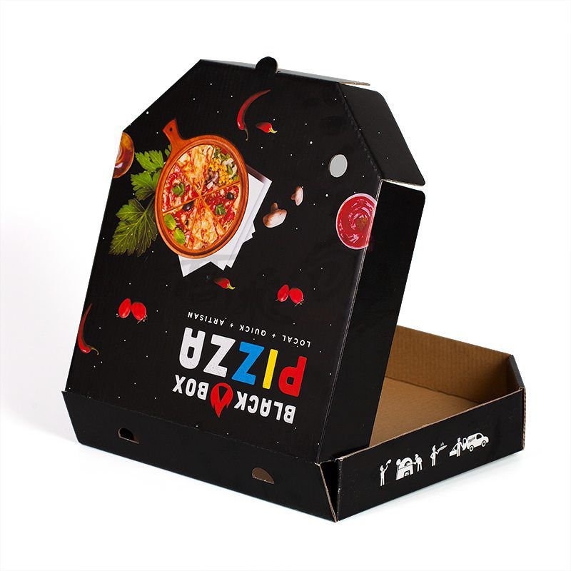Custom 9 Inch Corrugated Pizza Boxes Packaging Wholesale with Logo