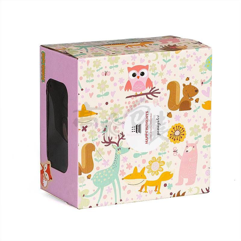 Corrugate Box for Cake with Window