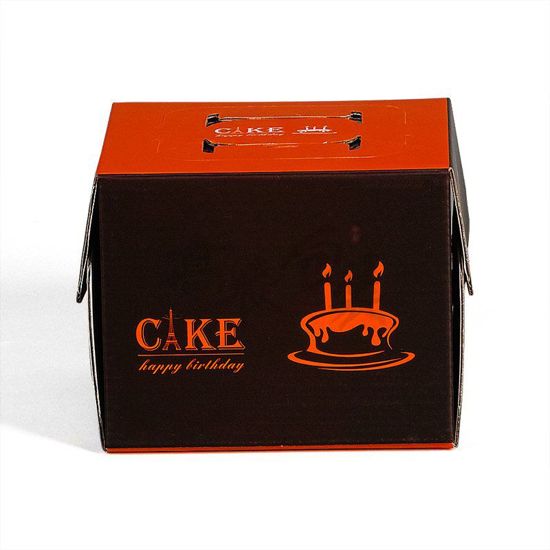 Disposable Paper Packaging Cardboard Big Black Cake Box Birthday Cake Box with Clear Window Clear Gift Box