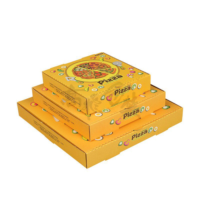 Eco Friendly Craft Paper Box for Pizza with Flexo Print