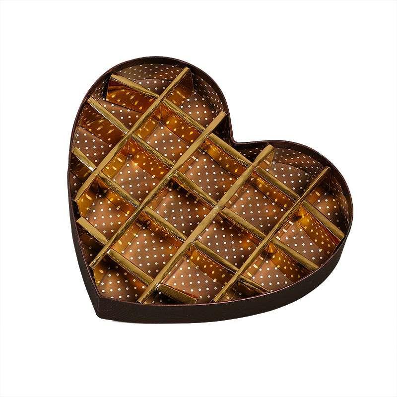 Custom High Quality Biodegradable Heart Shape Wedding Packing Gift Box Paper Empty Luxury Chocolate Packaging Box