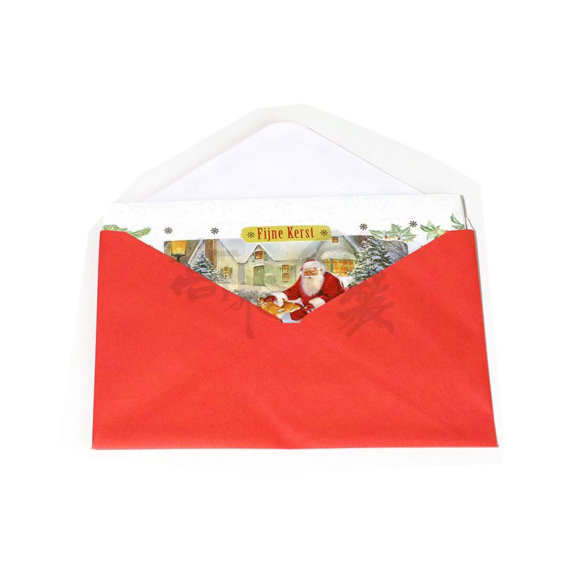 3d Handmade Wholesale Laser Cut Paper Magic Christmas Greeting Gift Cards with Envelope