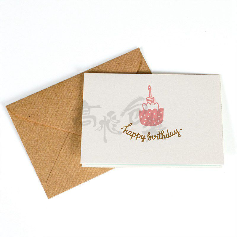 Eco Friendly Wholesale Happy Birthday Invitation Greeting Gift Cards Printed For Kids Box Set