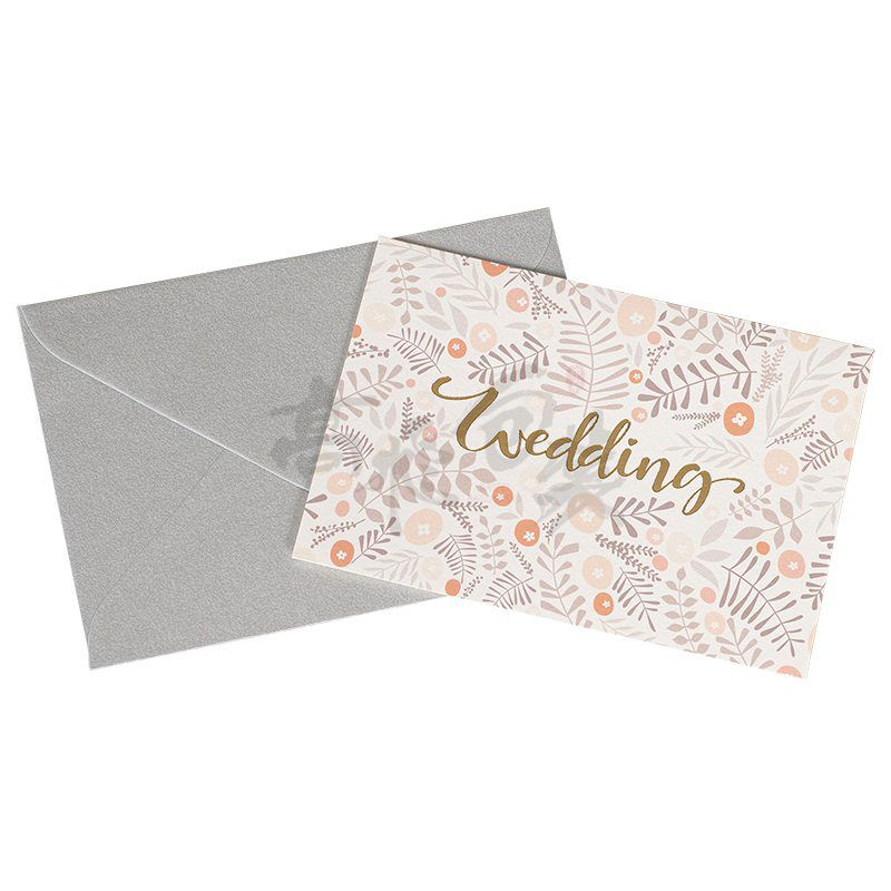Eco friendly Custom Print Handmade Recordable Greeting Hot Stamping Thank You Cards for Wedding Walmart