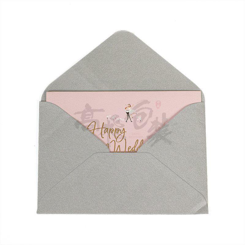 Custom Unique Fashion Wedding Invitation Thank You Greeting Cards Design with Envolpe