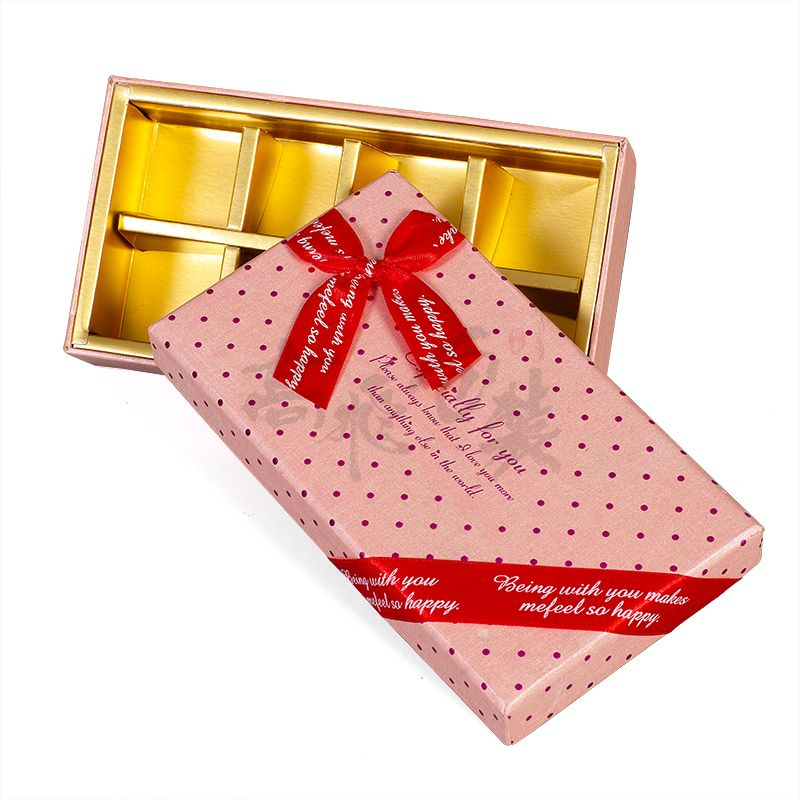 Eco Friendly Wholesale Recyclable Chocolate Candy Cardboard Gift Packaging Box For Chocolate Truffles Products