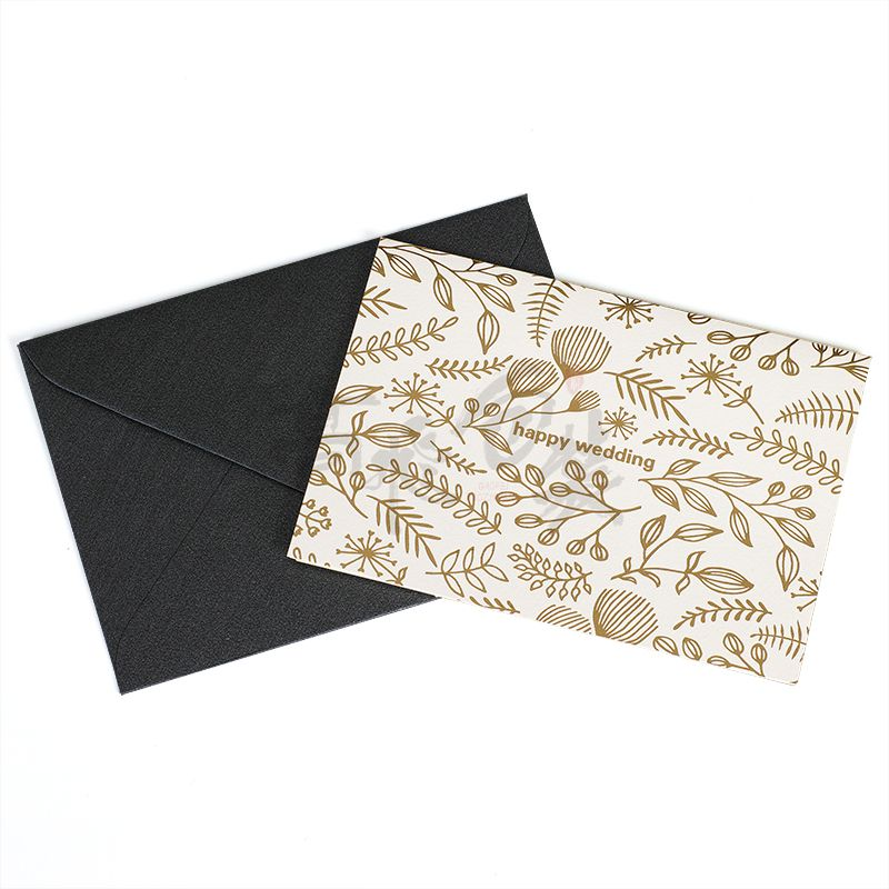 Wholesale Custom Hot Stamping Embossed Wedding Gratitude Business Graduation Small Greeting Playing Cards