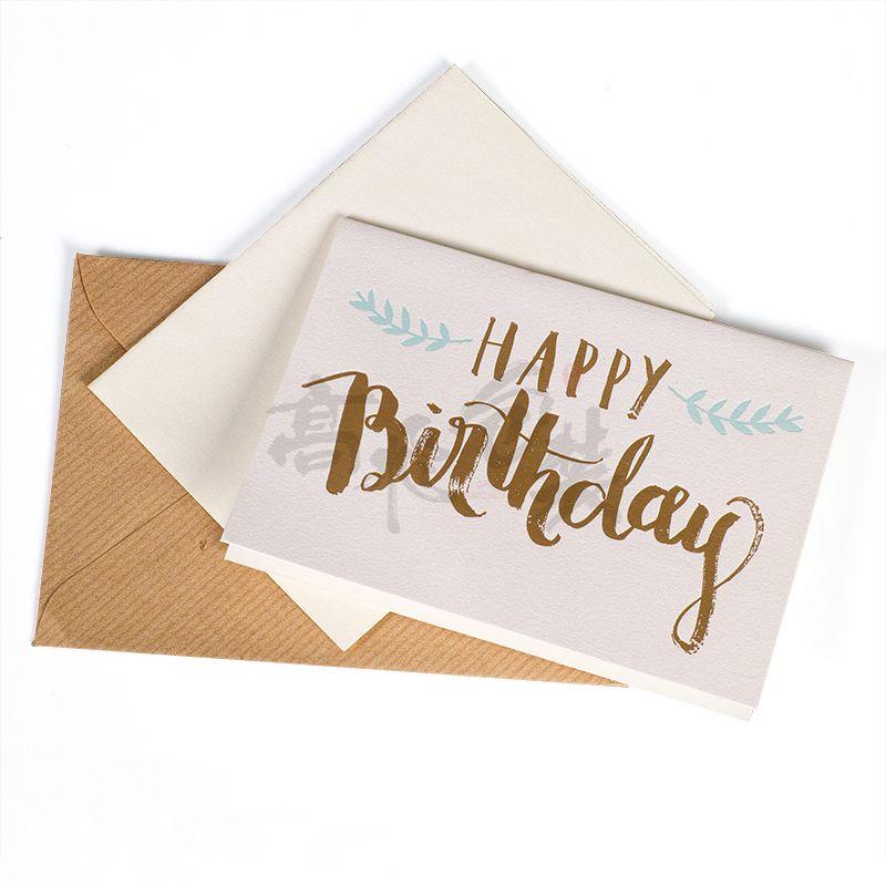 Chinese Handmade Birthday Invitation Paper Birthday cards with envelope