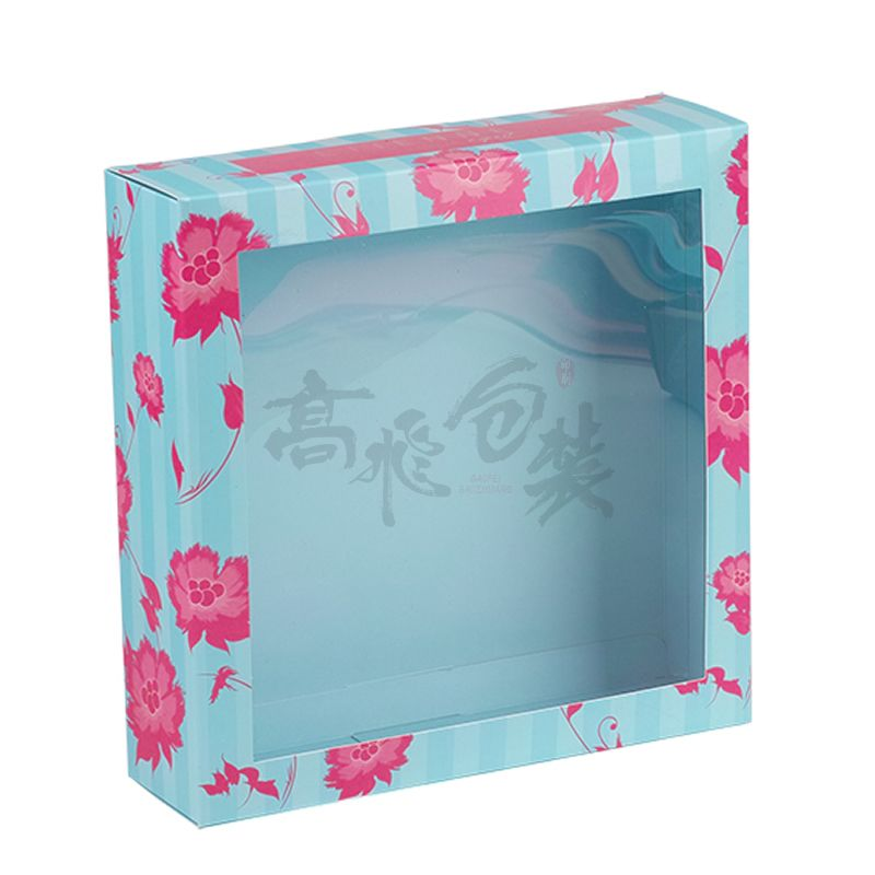 Cardboard Gift Flower Pie Bakery Boxes With Clear Window