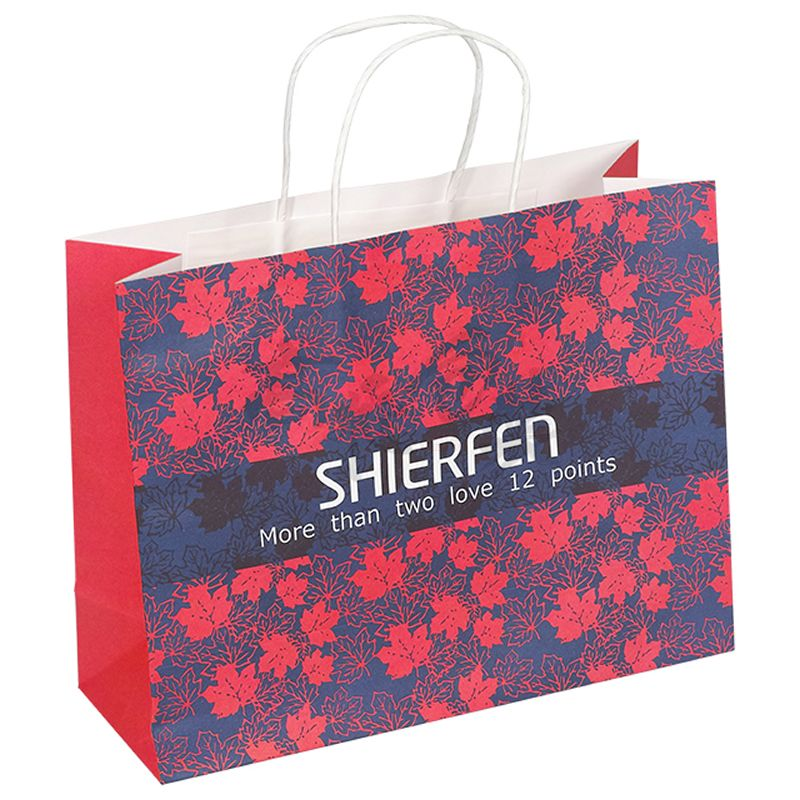 custom craft paper bags with handles shopping paper bag wholesale