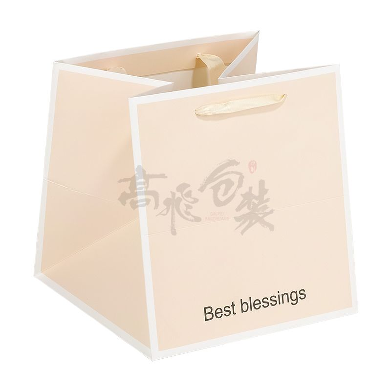 eco friendly large pink christmas gift paper packaging bags in bulk with handles for cosmetics