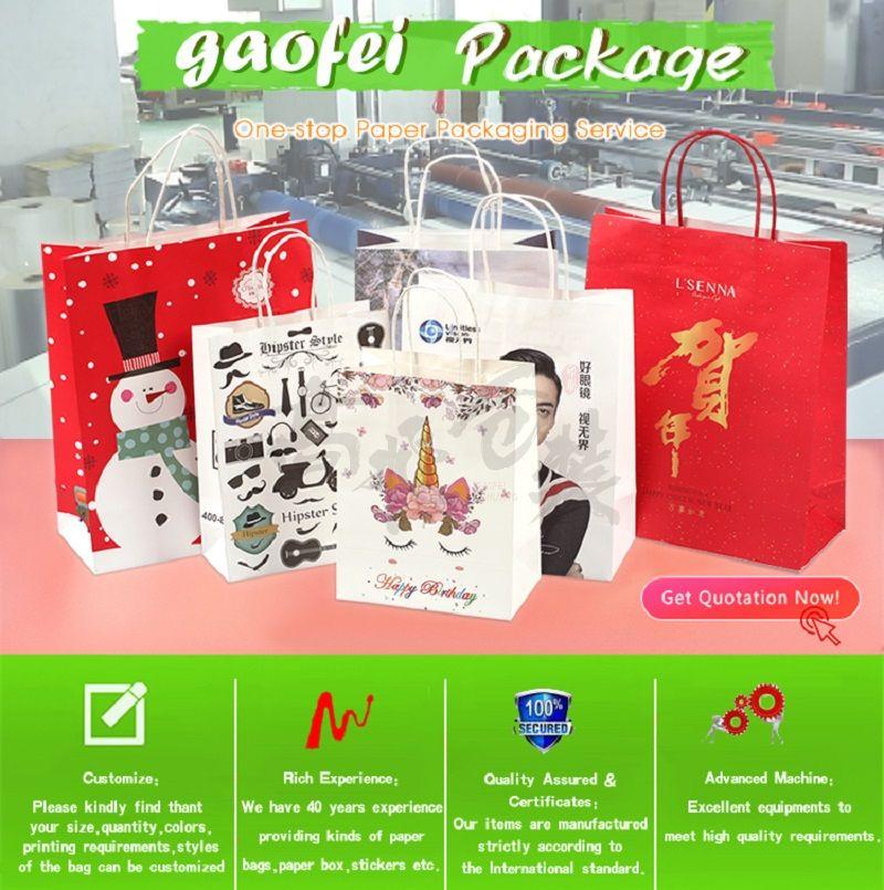 OEM Custom Luxury Gift Craft Shopping White Kraft Paper Bag With Handle Manufacturer Gift Paper Bag